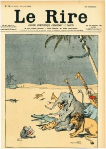 RABIER Moulins Le rire au désert, pour le Journal Le Rire, n°76, 18 avril 1896 A
